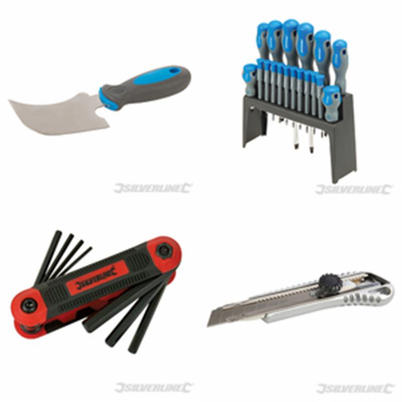 Silverline Knives, Screwdrivers & Hex Key