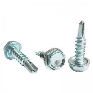 Washer Hexagon Self Drill Screw Steel Zinc Plated