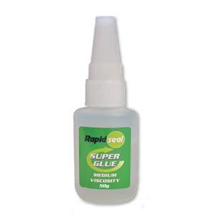 Rapidseal Medium Viscosity 50gram Superglue - 25 Per Box