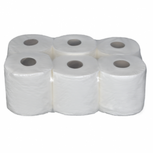 White Centrefeed Roll Embossed Contractors 2 Ply - 6 Per Pack