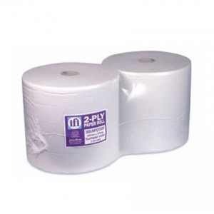 White Bumper Roll Wipeclean Professional 2ply - 2 Per Pack