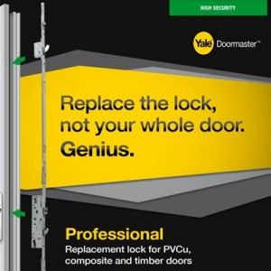Doormaster Professional Replacement Lock for PVC/Timber/Comp Doors